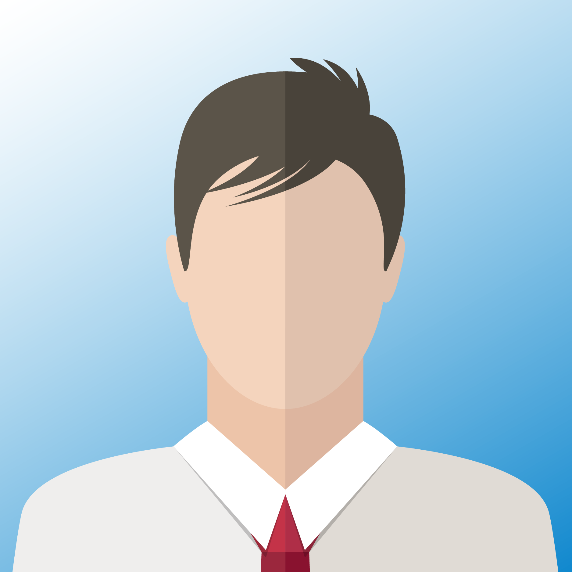 vector of corporate male employee