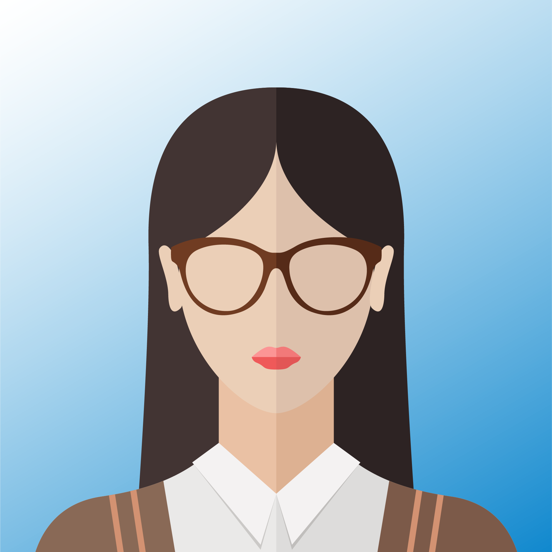 vector of corporate female employee
