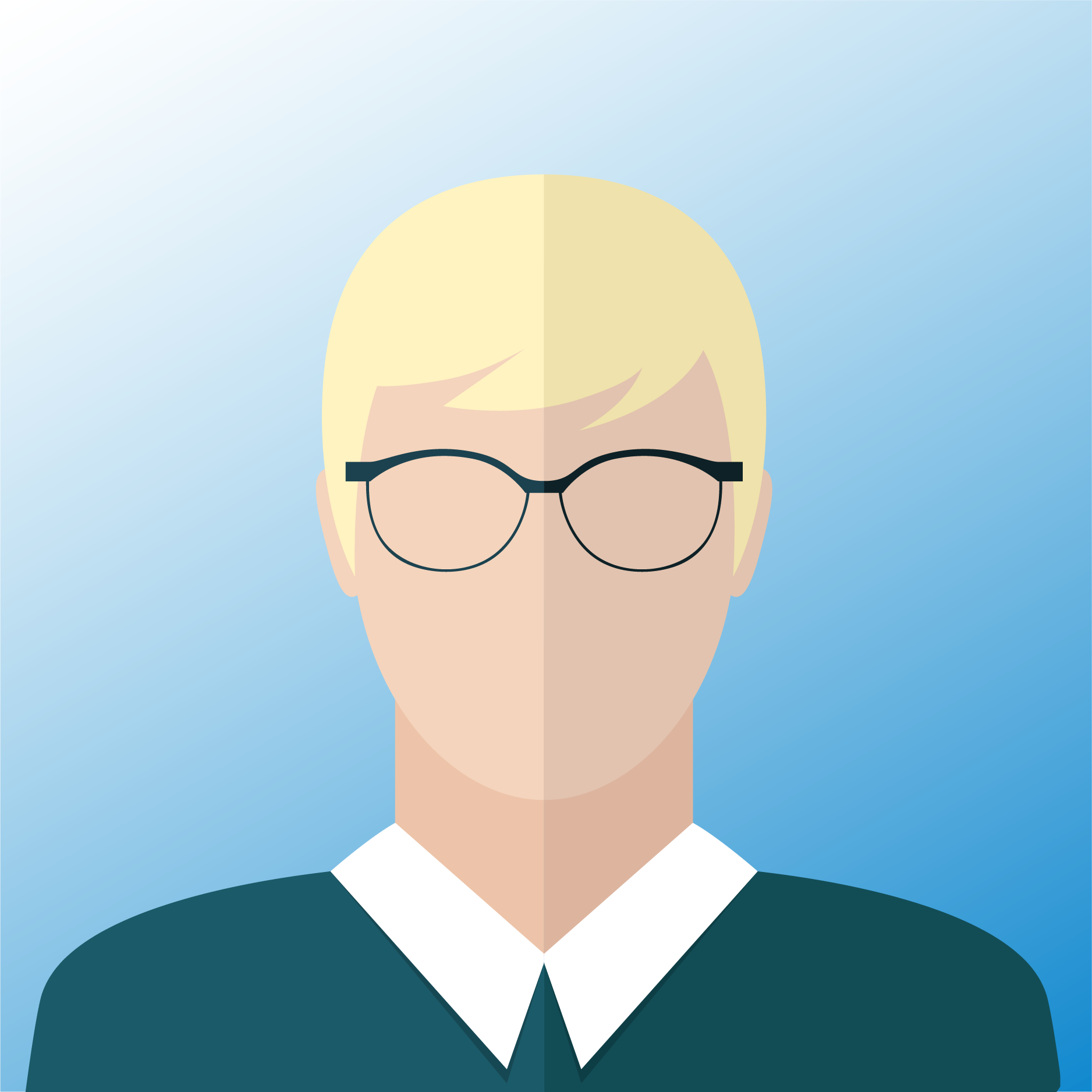 vector of man with blond hair